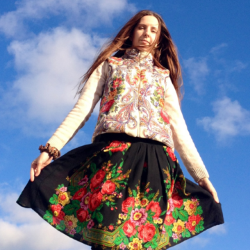 Модная юбка из платков. Платки на все случаи жизни