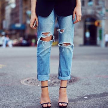 Как укоротить брюки-джинсы в домашних условиях